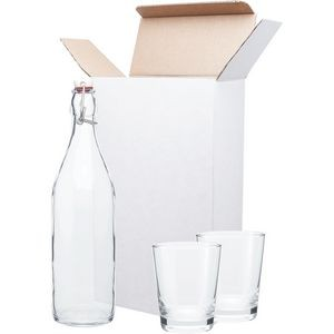 H2go Giara/ Double Old Fashioned Glass Gift Set